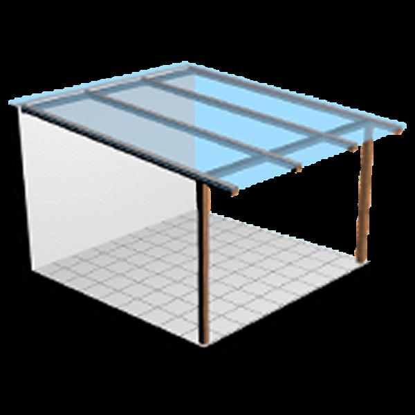 Terrassendach Komplettbausatz Lexan Stegplatten