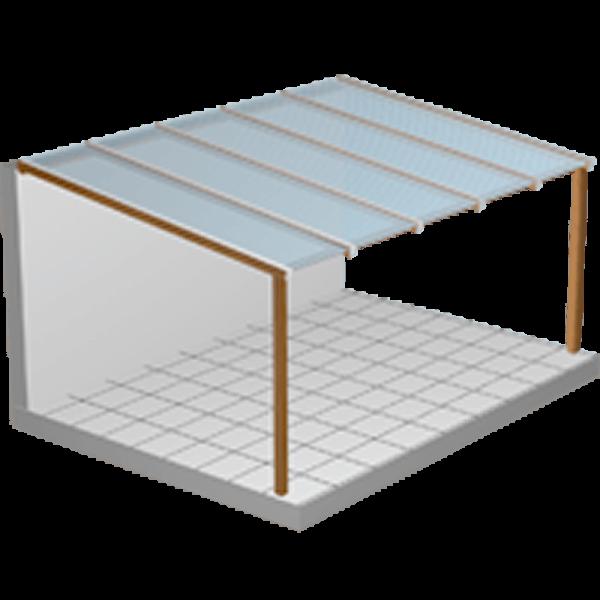 Terrassendach Komplettbausatz Makrolon Stegplatten